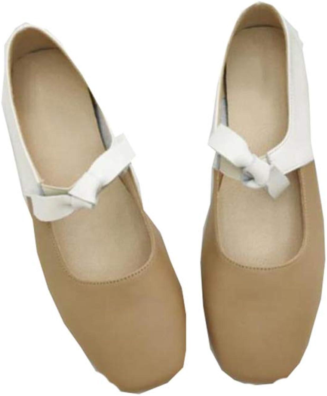 TZQ Damen Damen Casual Work Comfort Schuhe Leichte Leichte Leichte Mary Janes Echtes Leder Slip-On Flache Zip Schuhe Wohnungen  d1298c