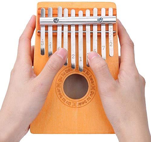 Oyunngs 10 Teclas Kalimba, Madera de Pino Mini Pulgar Dedo Piano Teclado percusión Instrumentos Musicales, con Kit de Bolsa de Martillo de afinación, Regalo para niños Adultos