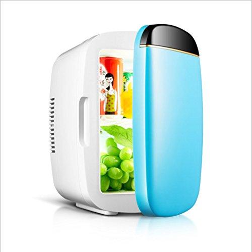 Q-HL Auto Elektrische Kühlschrank Kühlbox, 6L Auto Kühlschrank, tragbare Mini-Kühlschrank, AC und DC Hotspot-System, Thermostat, Medikamentenlager, Kosmetik-Kühlschrank (Color : Blue)