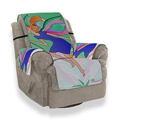 Rtosd Dream Fantasy Magic Wand T Cojín Silla Slipcover Slipcover Silla Cubierta Reclinable Fundas de sofá Protector de Muebles para Mascotas Niños Gatos Sofá