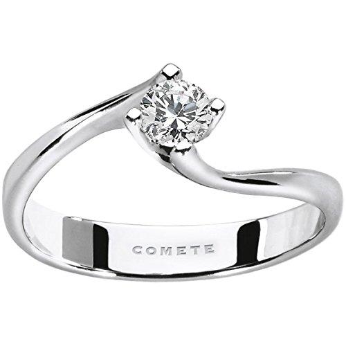 Comete ANB-2035 - Anillo solitario de mujer de oro blanco y diamante