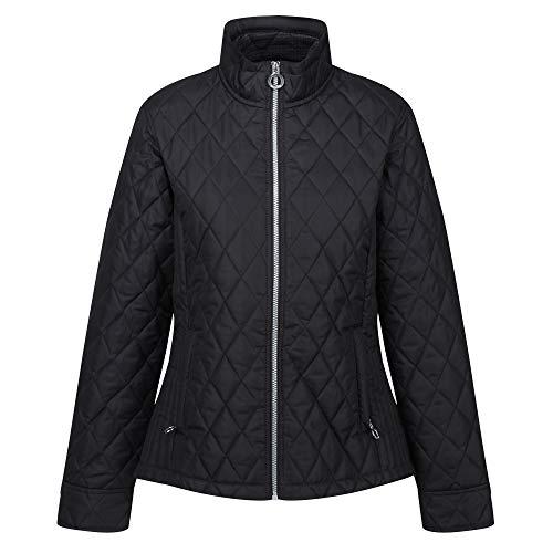 Regatta Damen Charna Water Repellent Micro Poplin Fabric Thermoguard Insulation Back Vents With Stud Fastening Jacket Jacke, Schwarz, 36