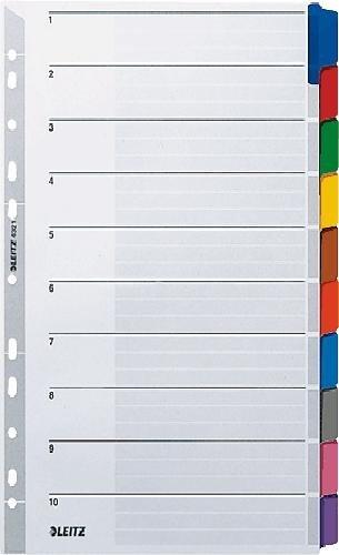Leitz Kartonregister Blanko 160g/qm/4321-00 A4, 225 mm, 297 mm grau 10 Blatt (5, 1 - 10)