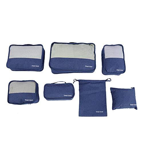 ZHHZ Organizador de maletas – Juego de 7 bolsas de almacenamiento para maletas de compresión (verde)
