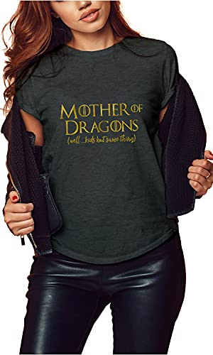 Game of Thrones Tshirt, Mother of Dragons, Gift for Mom, 2XL, Gray