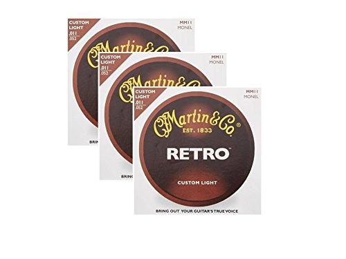Martin MM11 Retro Monel Acoustic Guitar Strings