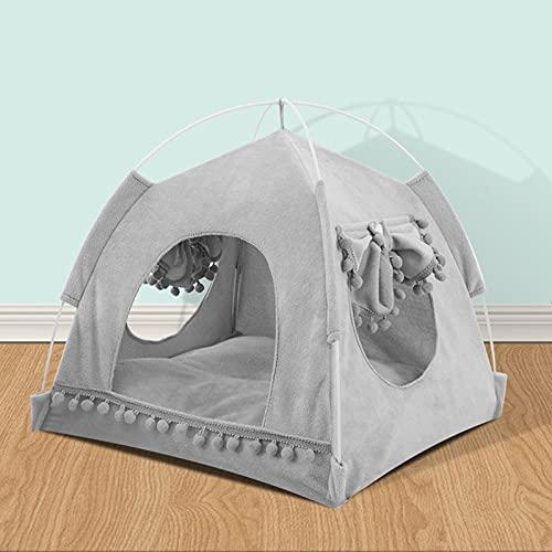 WHEEJE Dropshipping Cama de Mascotas Linda para Gatos Puppy Dog House Cama Transpirable Tienda de Verano Camas para Gatos para Conejos Hamster Cat Mascota Casa para Gato Suave