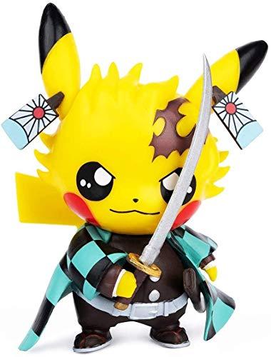 Avicir - Action figure di Pikachu/Demon Slayer, da collezione, regalo di compleanno, in PVC, 10cm