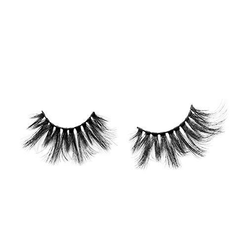 25mm Wiederverwendbar Schwarz Falsche Multilayer Wimpern, 3D Natürliche Dicke, Make-up Eyeliner Nerz Haar Auge Peitsche