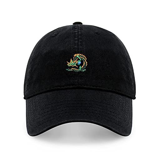 Dragon Design Dad Hat Cotton Fun Baseball Cap Multi Epic Colors (Black)