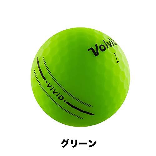 ボルビックゴルフボールボルビックビビッド(グリーン)1ダース12個入りVOLVIKNEWVIVIDNPGREENVIVID20GRN