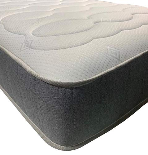 eXtreme comfort – Hybrid 4ft6 Double Mattress. Quilted Double Memory Foam Mattress With Springs (4ft6 x 6ft3, 135cm x 190cm)[1341]