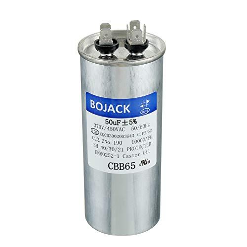 BOJACK 50 uF ±5% 50 MFD 370/450 V CBB65 Round Run...