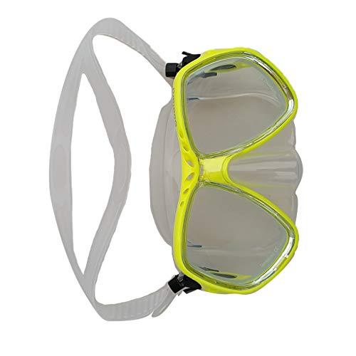 perfeclan Máscara de Esnórquel Gafas de Buceo Buceo Libre Gafas Templadas Gafas - Equipo de Buceo Y Esnórquel Opcional - Amarillo