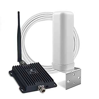 Phonetone Cell Phone Signal Booster for Home and Office | 65dB Dual Band 12/13/17 Cellular Repeater Boost 4G LTE Data and Volte for Verizon and AT&T | Support Multiple Users | FCC Approved