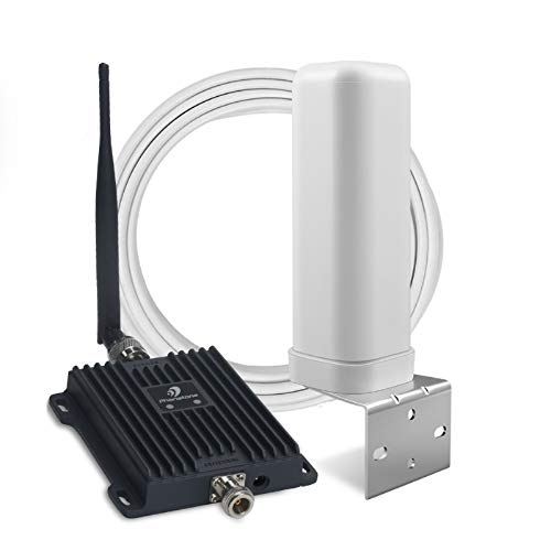 Phonetone Cell Phone Signal Booster for Home and Office | 65dB Dual Band 12/17/13 Cellular Repeater Boost 4G LTE Data and Volte for Verizon and AT&T | Support Multiple Users | FCC Approved