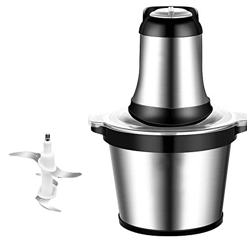 Food Processor-Food Processors best Rated Meat Grinder Vegetable Chopper Food Chopper Garlic Chopper Household Electric Small Stainless Steel Multifunctional Meat Grinder Mixer 3L Large Capacity