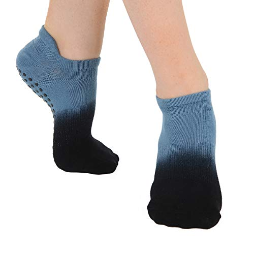 Great Soles Women's Ombre Dyed Grip Socks for Yoga, Pilates, and Barre (Dusk)
