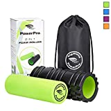 PowerPro 2-in-1 Foam Rollers: 13' & 24' Trigger Point Release Roller Massager Plus Smooth Muscle Massage Roller. 2 x eBooks & Carry Case