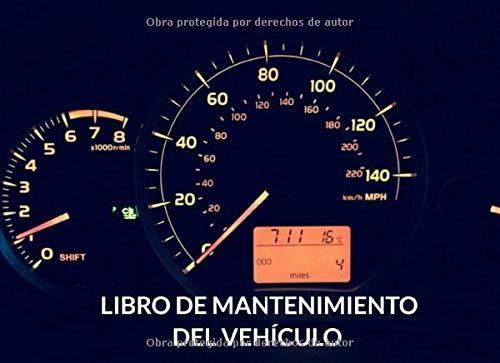 Libro de mantenimiento del vehículo: Registro de mantenimiento de coches - 20,96 cm x 15,24 cm, 101 páginas - Páginas prefabricadas para llevar un ... - Adecuado para cualquier fabricante.