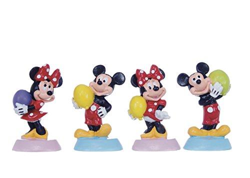 Officiële Disney personages hars taart Topper 4-delige set Mickey Mouse Minnie houden verjaardag Ballon