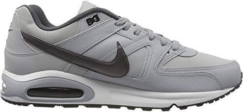Nike Herren AIR MAX Command Leather Laufschuhe, Grau (Wolf Grey/MTLC Dark Grey/Black/White 012), 46 EU