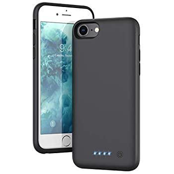 Battery Case for iPhone 6/6s/7/8/se 2020  Upgraded[6000mAh] Portable Protective Charging Case Extended Battery Pack Rechargeable Backup Power Charger Case,Compatible iPhone 6/6s/7/8  4.7   - Black