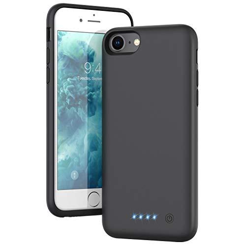 Funda Batería para iPhone 6/7/8/6S, QTshine [6000mAh] Funda Cargador Portatil Batería Externa Ultra Recargable Carcasa Batería para iPhone 6/7/8/6S [4.7 Pulgadas]