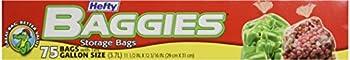 Hefty Baggies Food Storage Gallon 75 ct