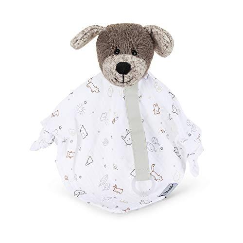 Sterntaler 3201961 Schmusetuch, Hund Hanno, Alter: Für Babys ab dem 1 Monat, Größe: S, Farbe: Braun/Weiß