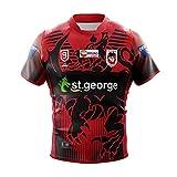 ZDVHM 2021 St.George 9s Jersey de Rugby 100% Polyester Tissu Respirant T-Shirt T-Shirt T-Shirt Uniforme Football Shirt Shaksuits pour Fans (Color : 1, Size : M)