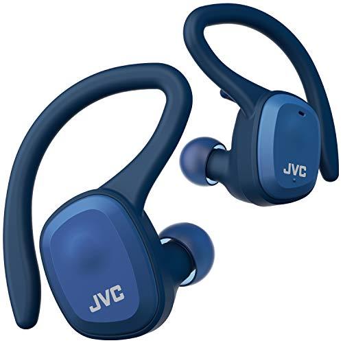 JVCHA-ET45T-A完全ワイヤレスイヤホン本体質量7.4g小型軽量ボディ最大14時間再生防水防塵仕様BluetoothVer5.0対応スポーツ向けブルー