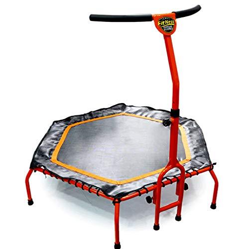 LKFSNGB mini-trampoline, 50 inch, met verstelbare armleuningen, aerobic-training in de tuin van de trampoline buitenshuis
