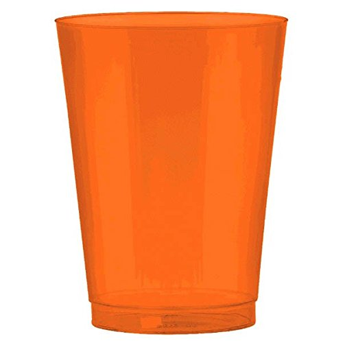 Big Party Pack Plastic Cups | 10 oz. | Orange Peel | Pack of 72 | Party Supply