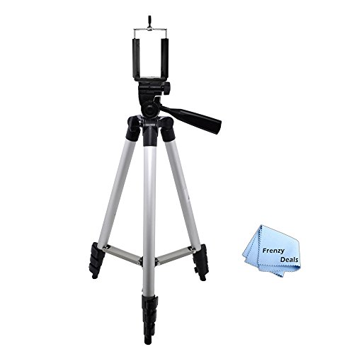 """50"""" Inch Camera Tripod for All Smartphones, Phablets, Cameras & Camcorders + Water Resistant Carrying Case + Frenzy Deals Microfiber Cloth"""