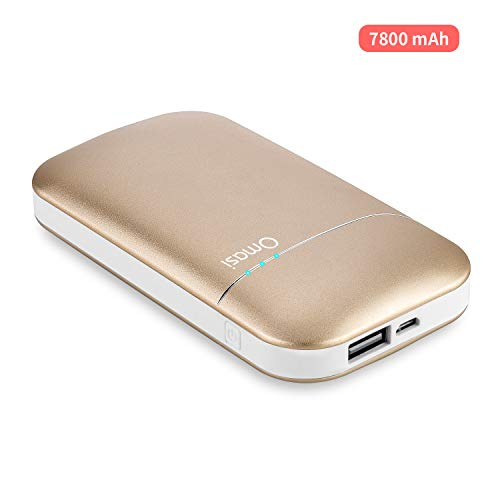 Omasi Wiederaufladbarer Handwärmer - 7800mAh elektronischer Taschenwärmer Powerbank externer Akku USB Portable kompatibel,Geschenk für Frauen Kinder Mann