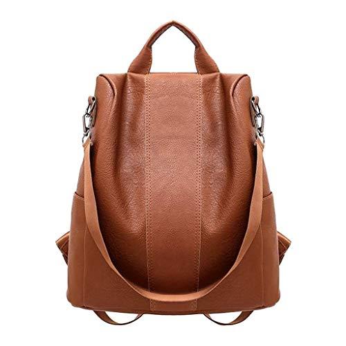 Pwtchenty Damen Rucksack Schultertaschen für Frauen Leder Rucksack Wasserdichter Reiserucksack Tagesrucksack große Kapazität Anti-Diebstahl Daypacks Tasche