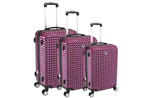 Compagnie du bagage Set DE 3 VALISES Juego de Maletas 50 Centimeters Rojo (Bordeaux)