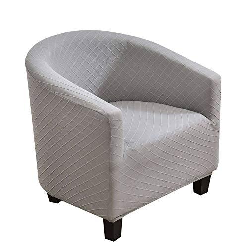 HUNOL Funda de Sillón Chesterfield, Suave Antideslizante impresión de poliéster y Elastano Fundas de sofá Suaves duraderas Tub Chair Sillón-39-1-pcs