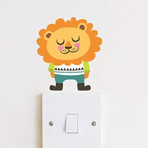 Pegatinas de pared con interruptor de animales bonitos para decoración del hogar, taza para ordenador portátil, nevera, decoración para habitación de niños, calcomanías de pared