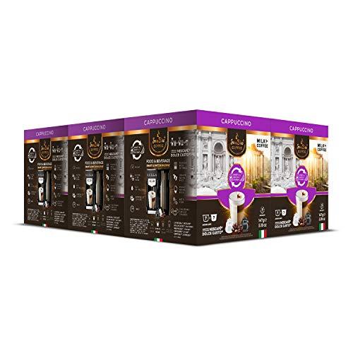 SanSiro® CAPPUCCINO   für alle Dolce Gusto® Systeme   84 Kaffeekapseln   Kaffee in Italien geröstet   Geschaffen für alle Kaffeegenießer