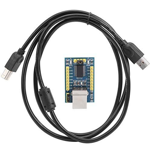 Fafeicy FT232RL Serial Port Module, DIY USB zu TTL Konverter Adapter, für WinXP/7/8/10, Realisierung der Konvertierung von USB zu Parallel Port und Serial Port, 3.3‑5V