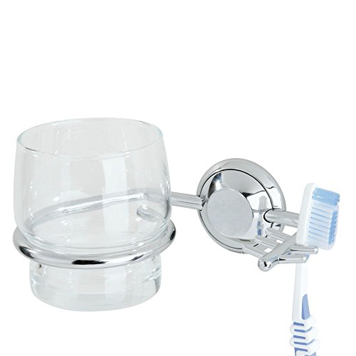 Tiger Portavaso en tandenborstel cup, metaal, chroom, 10,2 x 14,5 x 7,6 cm