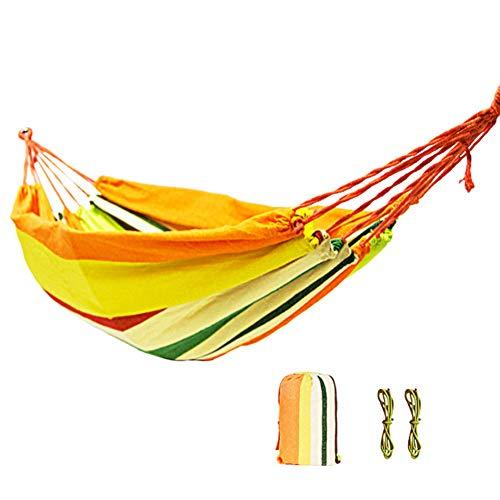 SANGSHI Hamaca de camping y viaje, ultraligera, arco iris, tiempo libre, para colgar en el jardín, columpio
