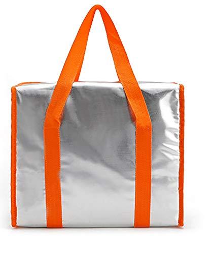 Grand épaississant glacière sac Pack de glace isolé sac à lunch sacs de stockage froid contenants de pique-niquer aliments frais,Orange