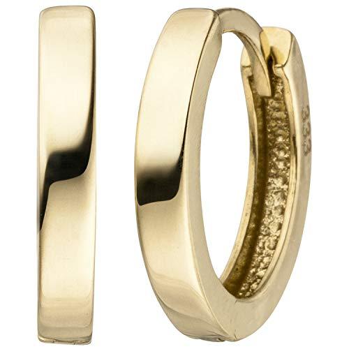 JOBO Damen-Creolen aus 333 Gold 12,5 mm