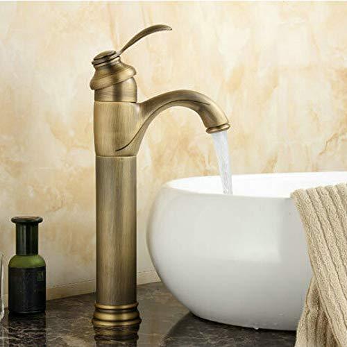 Grifos monomando para lavabos de baño Latón antiguo Terminado en caliente y en frío Montado con torneiras de cerámica para grúa banheiro