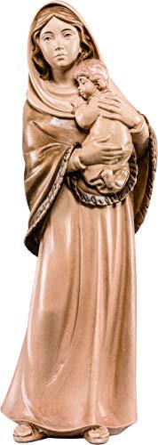 Imagen de la Virgen de Ferruzzi en Talla de Madera Encerada con 3 Tonos - Mide 85 cm - Demetz Deur