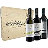 Villa Lanata Cassetta Legno Chardonnay + Piemonte Rosso + Barbera D'Alba 3 Bottiglie 750ml
