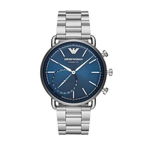 Emporio Armani Smartwatch Híbrido para Hombre de Connected con Correa en Acero Inoxidable ART3028